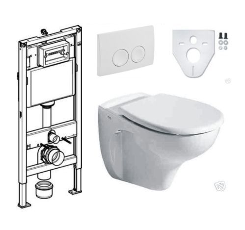 keramag wc sitz geberit duofix basic element set1 ebay. Black Bedroom Furniture Sets. Home Design Ideas