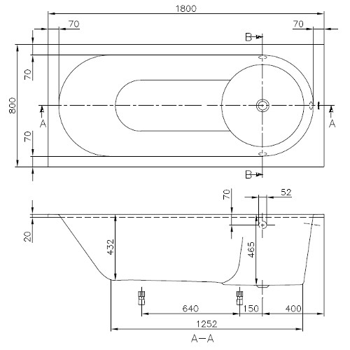 villeroy boch badewanne rechteck libra 1800x800. Black Bedroom Furniture Sets. Home Design Ideas