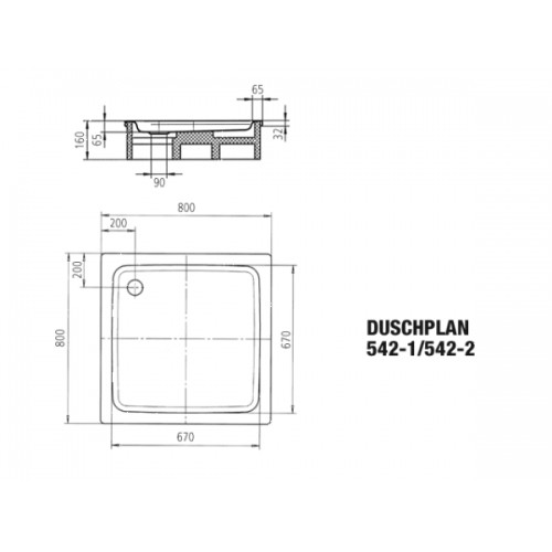 kaldewei stahl duschwanne duschplan 542 80x80x6 5 cm. Black Bedroom Furniture Sets. Home Design Ideas