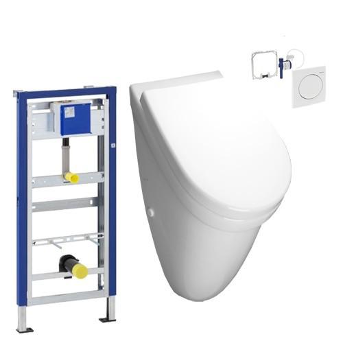 geberit vitra urinal mit deckel geberit urinalelement bet tigung samba design in bad. Black Bedroom Furniture Sets. Home Design Ideas
