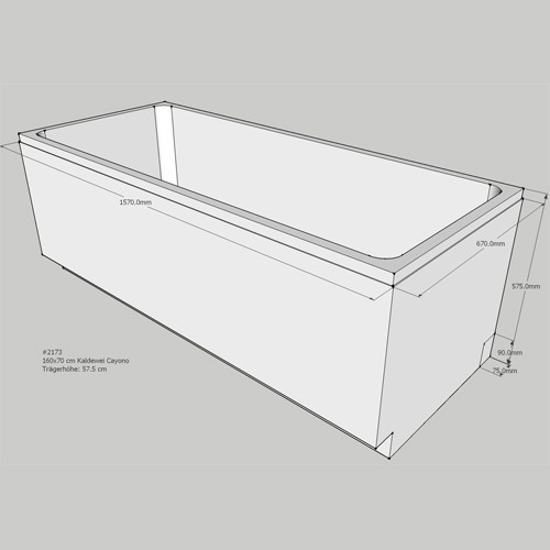 super wanne mit wannentr ger sc16 kyushucon. Black Bedroom Furniture Sets. Home Design Ideas
