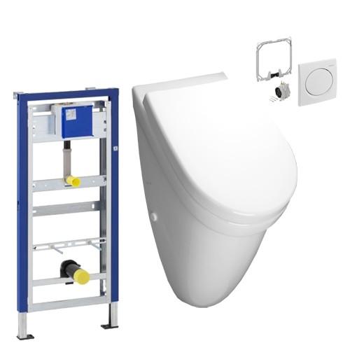 urinal installationsset vitra mit deckel geberit. Black Bedroom Furniture Sets. Home Design Ideas