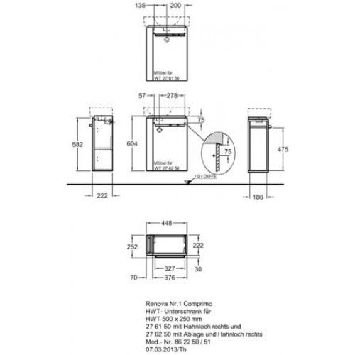 Keramag Renova Nr1 Comprimo Neu Tiefspl-WC, wandhngend