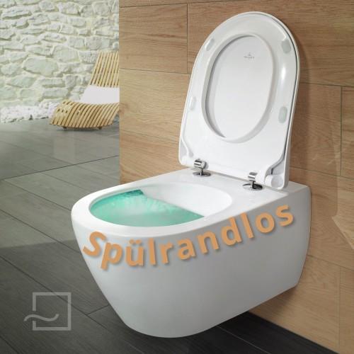 Subway 2.0 Tiefspül-WC spülrandlos Ceramicplus, Set mit WC-Sitz SlimSeat