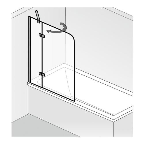badewannenaufsatz 2 teilig pendelbar 100 x 140 cm design in bad. Black Bedroom Furniture Sets. Home Design Ideas
