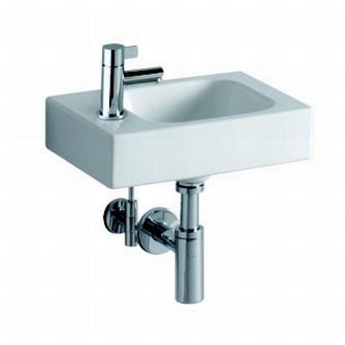keramag icon xs handwaschbecken mit hahnloch links 380x280 mm design in bad. Black Bedroom Furniture Sets. Home Design Ideas
